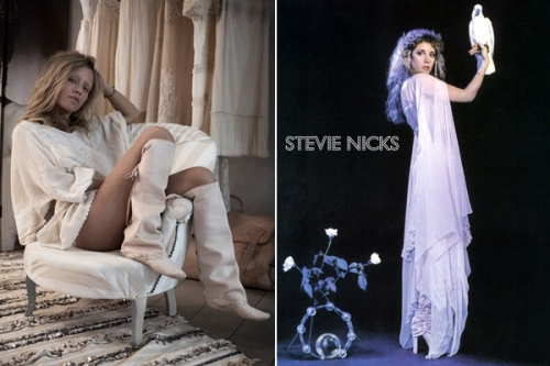 A photo by Garance Doré, Paris; Stevie on the cover of Bella Donna.